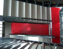 Rubberen tegels en trapvormen
