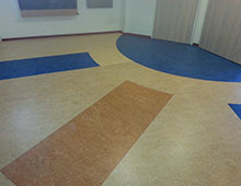 Reparatie in patroon marmoleum